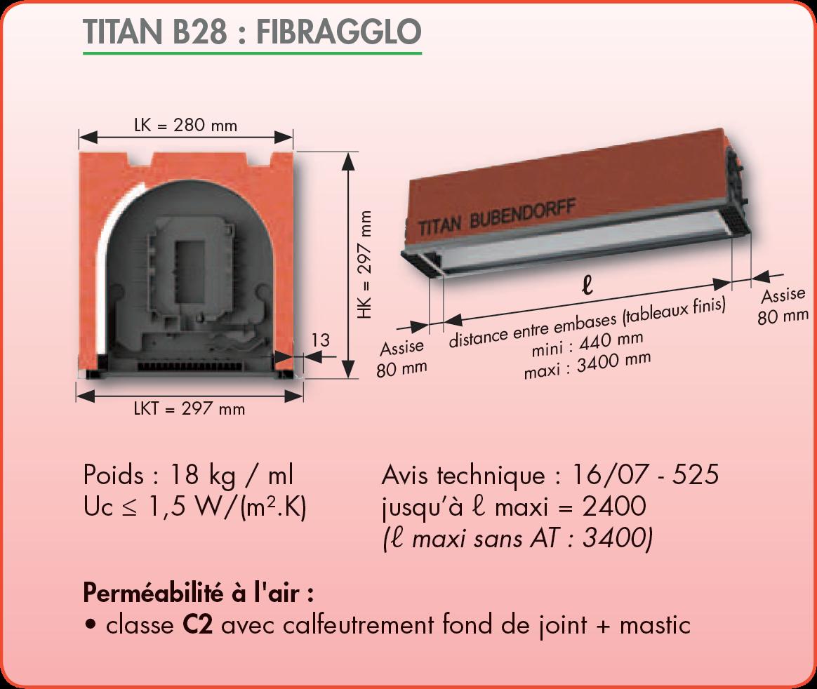 coffre volet roulant titan c28. Black Bedroom Furniture Sets. Home Design Ideas