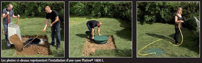 installation cuve eau de pluie PLatine